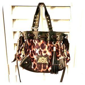 Juicy couture leopard print shoulder/handle bag